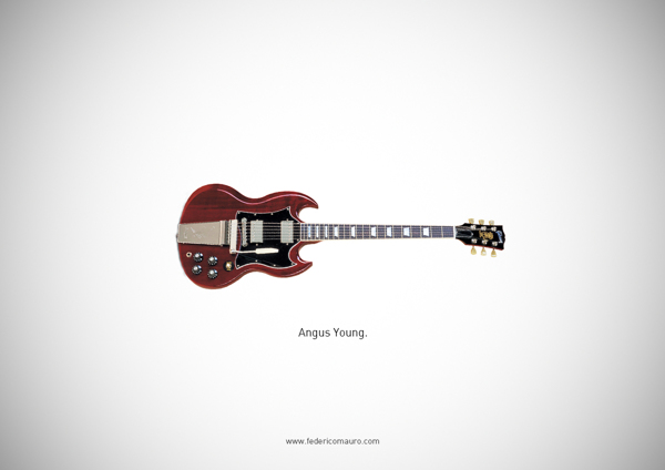 Famous guitars - federico mauro - Angus Young