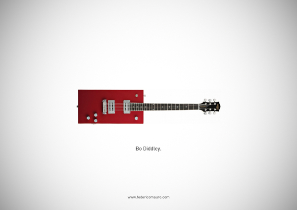 Famous guitars - federico mauro - Diddley