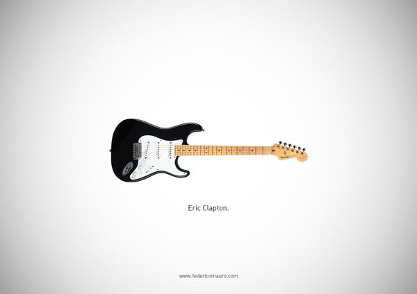 Famous guitars - federico mauro - Eric clapton