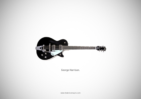 Famous guitars - federico mauro - George Harrison