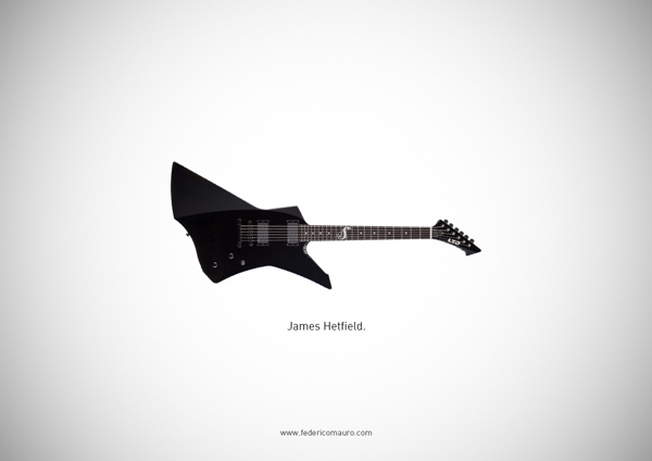 Famous guitars - federico mauro - James Hetfield