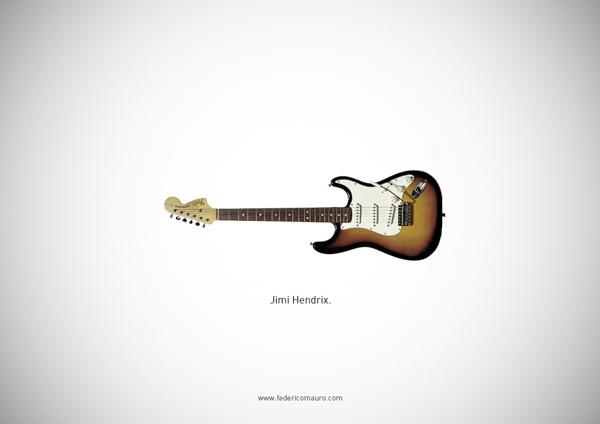 Famous guitars - federico mauro - Jimmy Hendrix