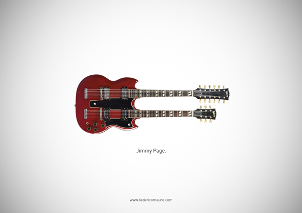 Famous guitars - federico mauro - Jimmy page