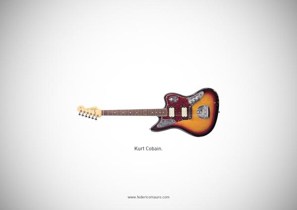 Famous guitars - federico mauro - Kurt Cobain