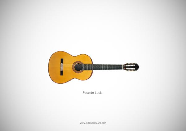 Famous guitars - federico mauro - Paco de lucia