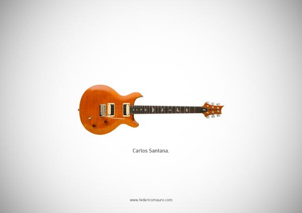 Famous guitars - federico mauro - Santana