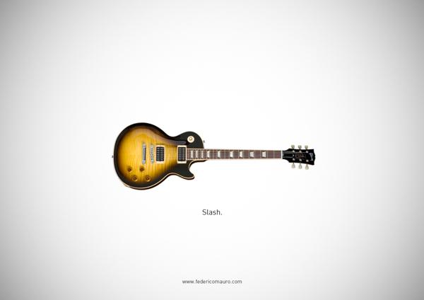 Famous guitars - federico mauro - Slash